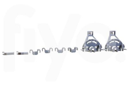 Set di guide di scorrimento per binario inferiore (cesto) plastica Lavastoviglie 00428344