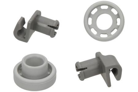 Ruote cestello Lavastoviglie adatto per Bosch, Siemens Cestello superiore 2 Pezzi 424717, 00424717